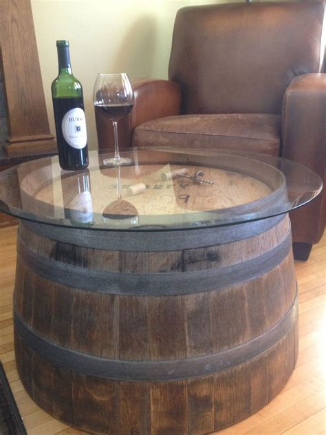 wine barrel table glass top wine barrel coffee table turning a house into a home