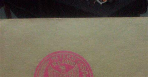 Kertas Segel Tahun 1977 jual materai lama dan kertas segel tertua 1949 1962 1965