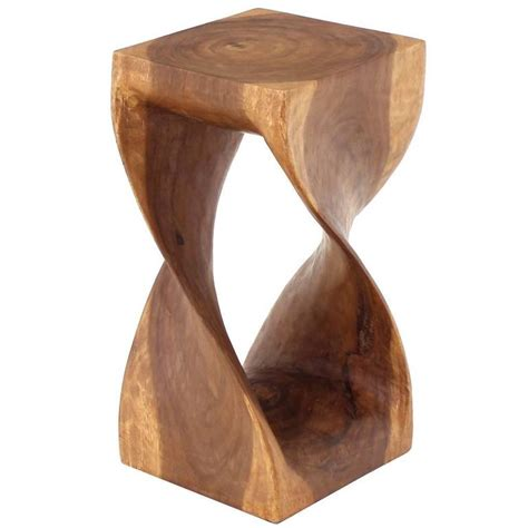Tile Pedestals Pierced Carved Solid Wood Stand Pedestal Occasional Table