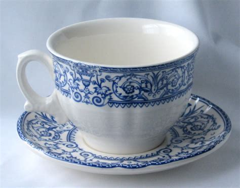 enjoy traditional blue and white dinnerware
