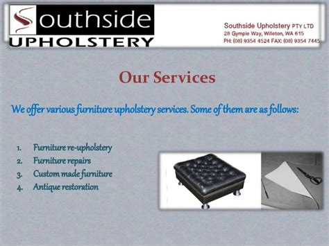 upholstery course perth furniture restoration perth