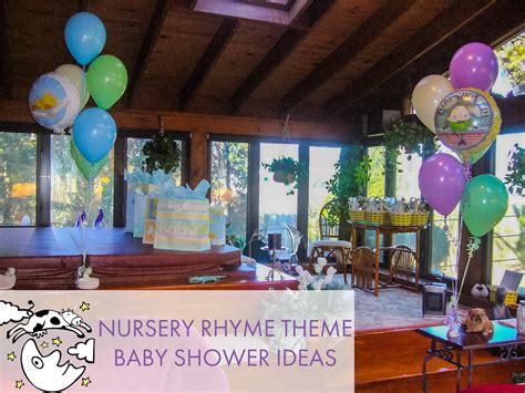 Nursery Rhyme Baby Shower Decorations Nursery Rhyme Baby Shower Sendo Invitations