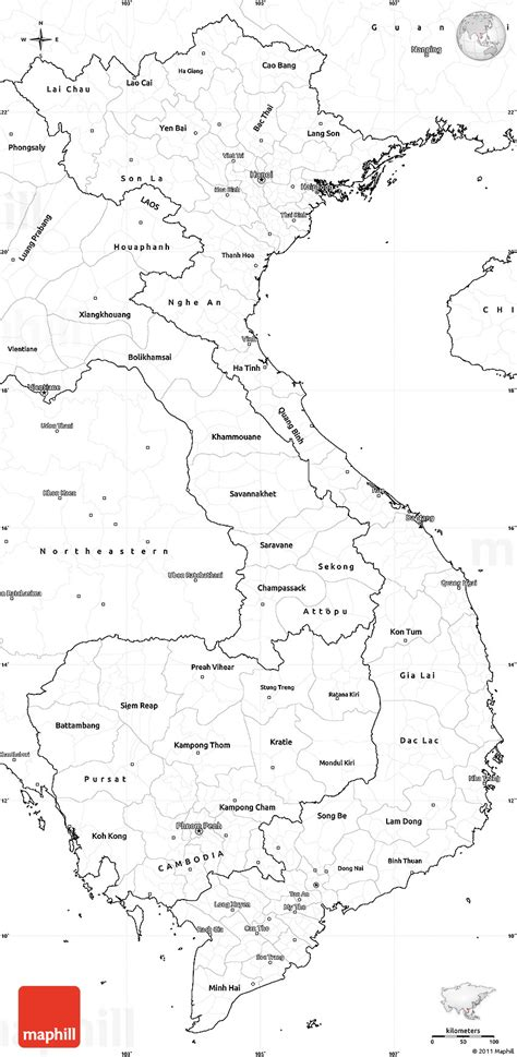 Printable Maps Vietnam | blank simple map of vietnam