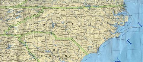 detailed map of carolina detailed map of carolina state carolina state