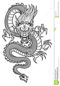 chinese dragon stock vector image of ethnicity monster