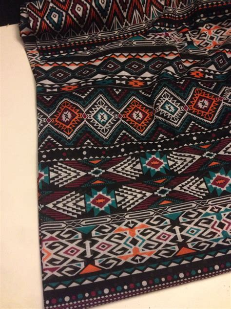 tribal pattern material polyester tribal pattern fabric 1 yard