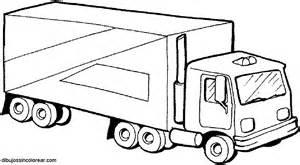 dibujos sin colorear dibujos camiones colorear
