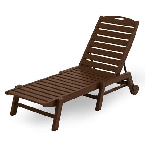 plastic pool lounge chairs shop polywood nautical mahogany plastic stackable patio