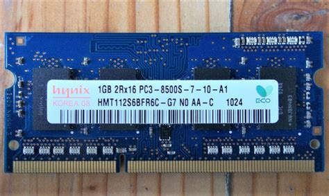Ram Ddr3 Laptop Second jual ddr3 sodimm hynix 1gb 2rx16 pc3 8500s 1066 mhz