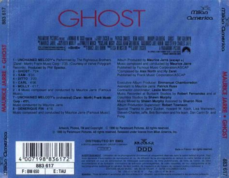 ghost soundtrack cd covers