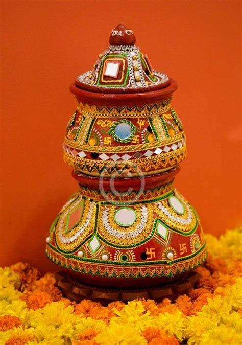 Pot Decoration by Navratri And Diwali Darba Pot Decoration Ideas Wallpaper