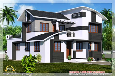 duplex building duplex villa elevation 2218 sq ft kerala home design