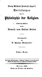 Lectures on the Philosophy of Religion - Wikipedia