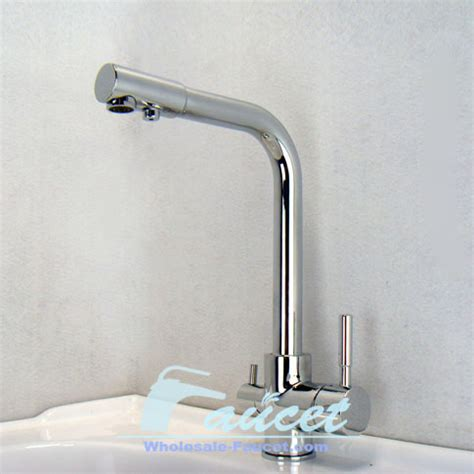 3 way dual faucet water filter tri flow kitchen faucet