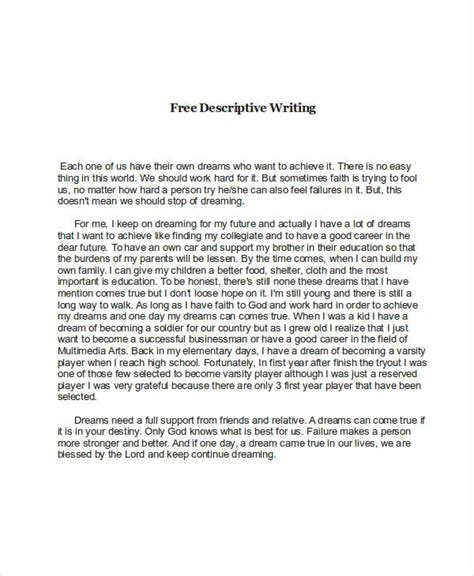 Writing A Descriptive Essay About A Person by Free Sle Descriptive Essay About A Person Docoments Ojazlink
