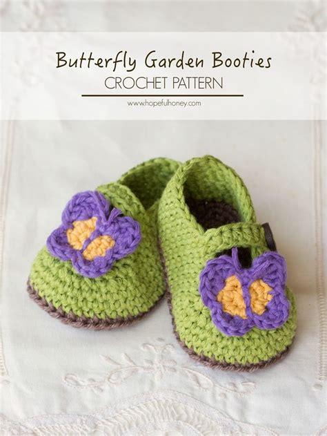 free crochet pattern for butterflies crochet zone butterfly garden baby booties free crochet pattern