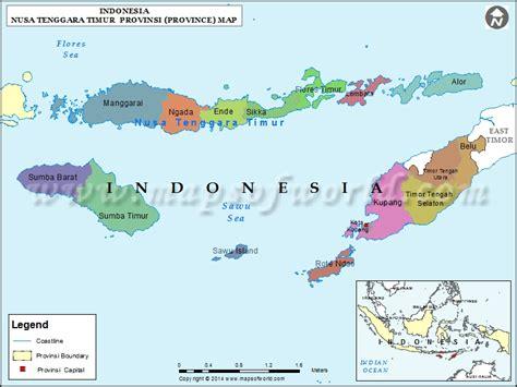 nusa tenggara timur map map  nusa tenggara timur