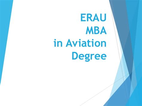 Mba In Airline And Airport Management Colleges In Chennai by Erau Degree Briefing Bs Technical Management And Mba In