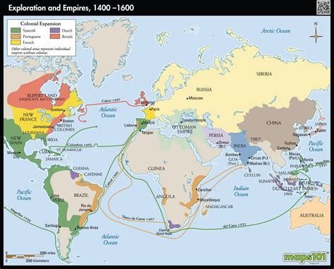 map world empires exploration and empires 1400 1700 map maps