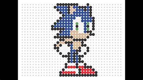 sonic hama hama bead sonic the hedgehog series 9