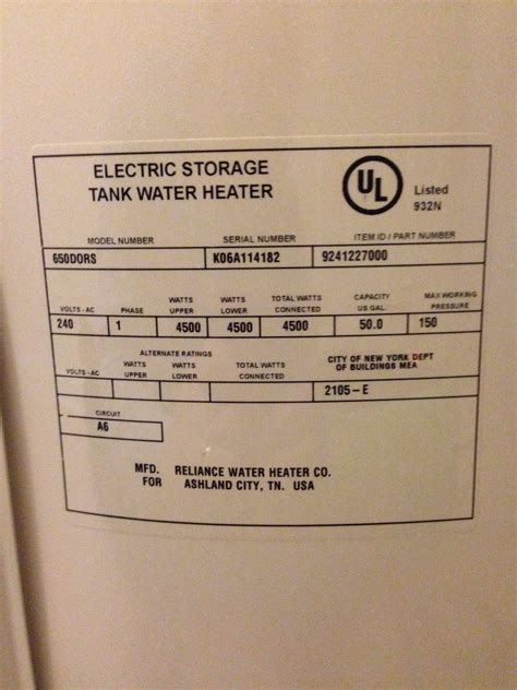 richmond electric water heater thermostat