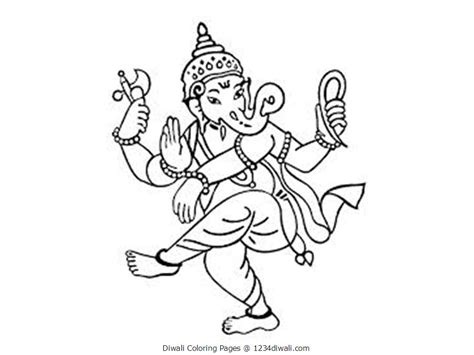 diwali coloring pages ganesha diwali pinterest