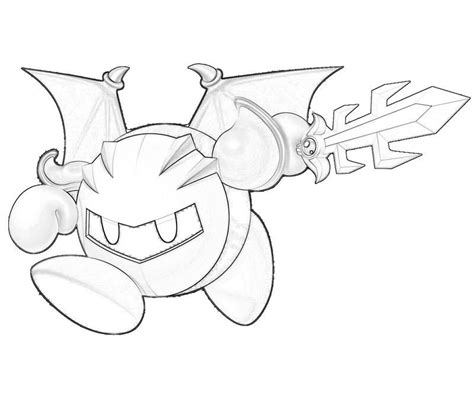 meta knight coloring pages to print az coloring pages