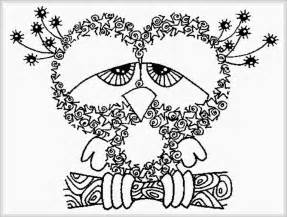 coloring pages to print for adults owl free printable coloring pages realistic
