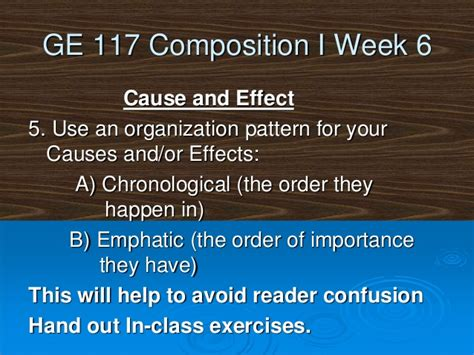 emphatic organizational pattern ge117 week seven