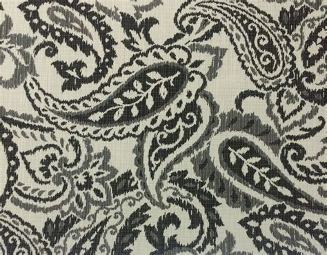 outdoor furniture fabric by the yard ballard designs cisco charcoal gray paisley outdoor furniture fabric by the yard ebay