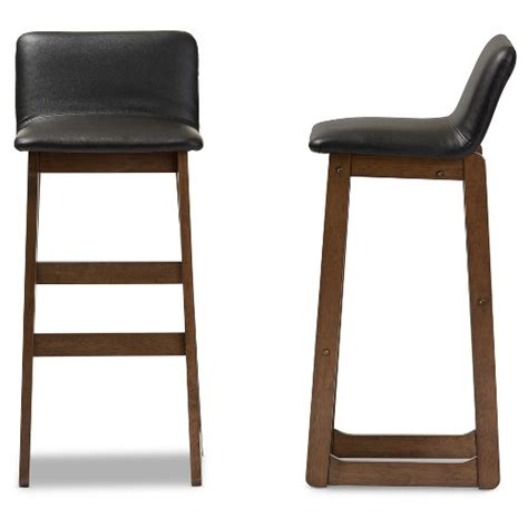 24 inch high bar stools studio black leather counter height bar loft modern and contemporary faux leather 29 quot high bar