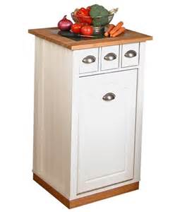 Kitchen Island With Casters Wooden Trash Cans For The Kitchen