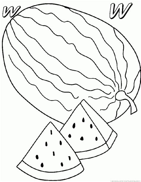 coloring pages for watermelon watermelon coloring pages