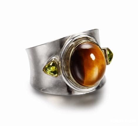 8 1 2 gold tiger eye ring with sterling silver