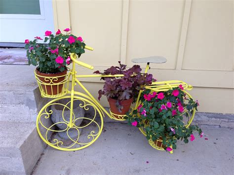 Bicycle Flower Planter vintage bicycle flower planter cottage chic
