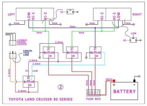80 series landcruiser headlight wiring diagram 46 wiring