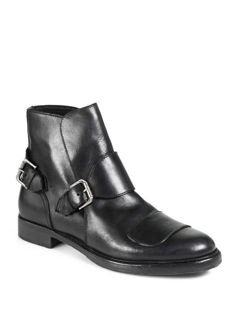 ralph boots for ralph greyson leather moto boots in black for
