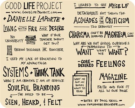 good biography ideas sketchnotes of danielle laporte s good life project