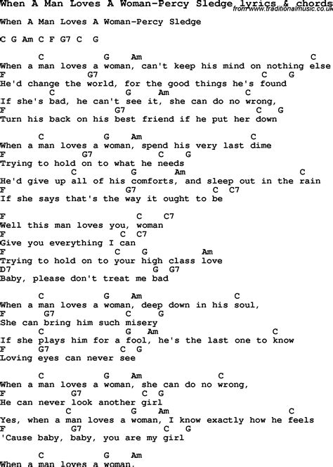 printable lyrics when i was your man love song lyrics for when a man loves a woman percy sledge