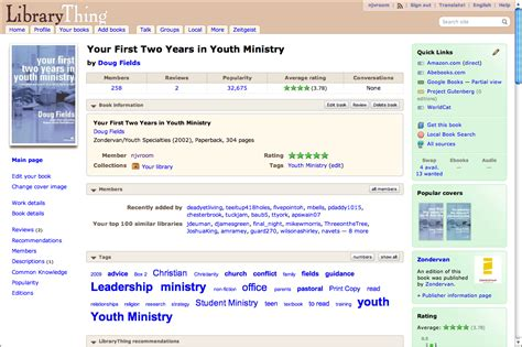 Library Thing by Get A Grip On Your Youth Ministry Library Youth Pastor Gear