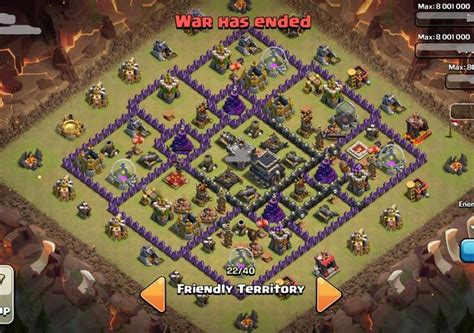 layout coc 4 mortar top 5 th 9 war base designs coc 4 mortars novgffember 2014