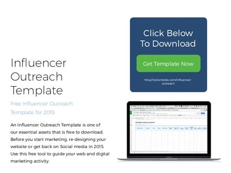 Free 2015 Influencer Outreach Template Influencer Outreach Template