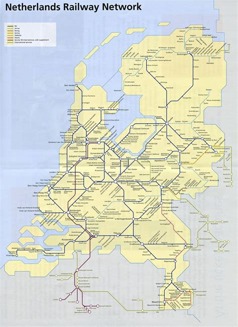 netherlands map ns ns rail map maplets