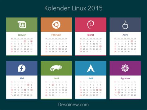 design kalender vector download desain kalender linux 2015 desainew