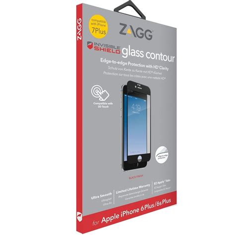 zagg invisibleshield glass contour screen protector for iphone 7 plus 5 5 quot sz ebay