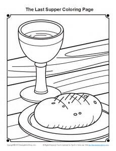 last supper coloring page bible coloring pages for the last supper