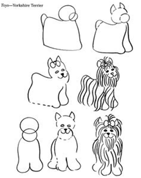 how to draw a yorkie step by step crafts coloring pictures that could be used for crafts etc on applique