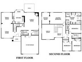 4 Bedroom Floor Plans 2 Story Glen St Johns Community In Jacksonville Florida