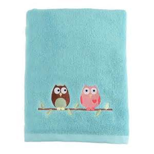 saturday ltd owl bath towel shopko