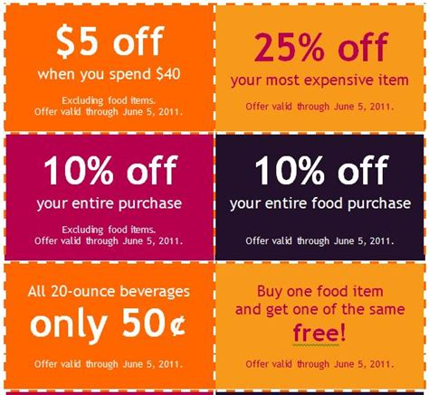 free printable restaurant coupons templates 50 free coupon templates free template downloads